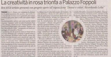 """Articolo su """"La Provincia di Sondrio"""" 6.3.2011"""