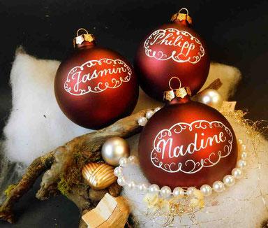 Weihnachtsgeschenk - personaliserte Weihnachtskugeln