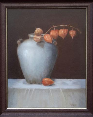 vaas met lampionnetjes 40-50cm