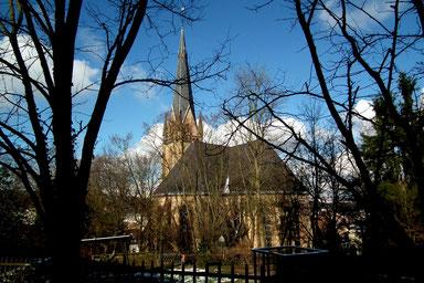 Evangelische Kirche, Dudweiler, Christuskirche, 1882, Architekt Carl Schäfer