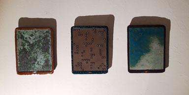 Katrin Leitner, Kunst, Ausstellung, Keramik, i-Pads, tablets Hochbunker Kassel, 2019
