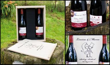 Diseños botellas de vino