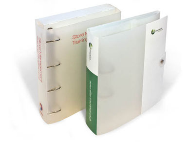Custom Printed Polypropylene Ring Binder Folders UK