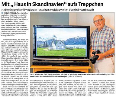 Heute 26.07.21 in der Presse (Pirmasenser Zeitung)