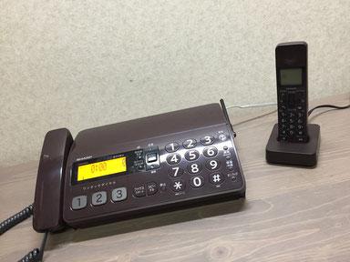 シャープFAX電話機