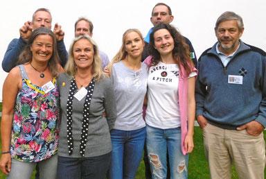 Das Team vom Open Air Kino der KIS - Kai und Marlis Musfeldt, Rieke Klee, Johanna Paschen, Gilberto Gaidano, Marlies HübnerKlee und Lühr Klee
