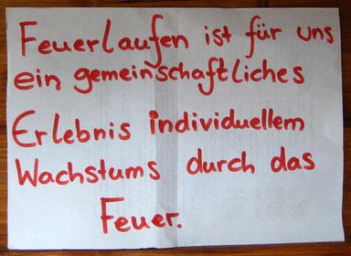 Feuerlauf, Spruch, Feuerpädagogik, 2010, Hessen