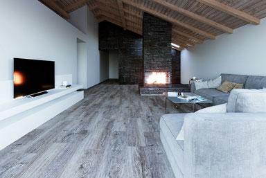Teppichmodule in einem schicken Wohnzimmer