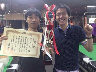 山中選手(左)&吉岡正登プロ