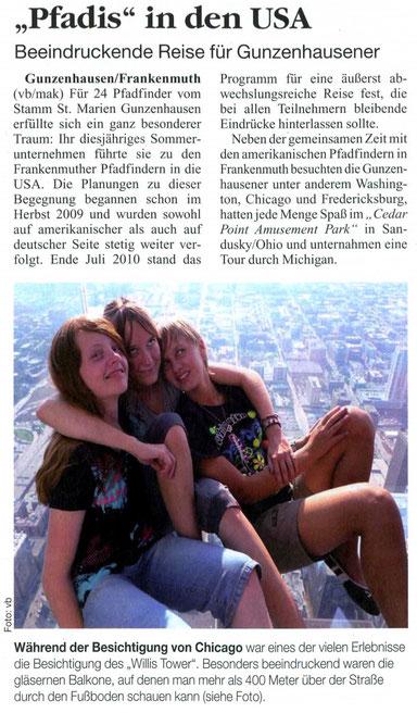 Artikel aus der Kirchenzeitung 2010