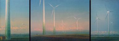 Windpark (Wind Turbines)Triptychon,  70x50,70x100x70x50cm