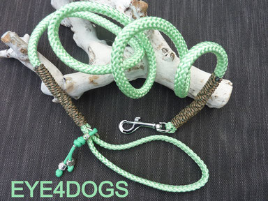 Hondenlijn gemaakt van ppm touw  met musketon haak
