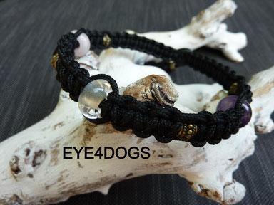 Paracord hondenhalsbanden met helende edelstenen en emx kralen