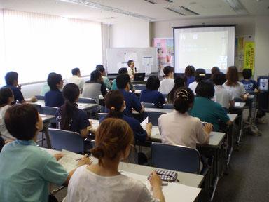 クイズやジョークを交えての1時間。楽しい講習会でした。