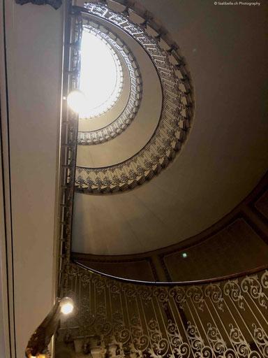 Das charmante Treppenhaus des Hotels