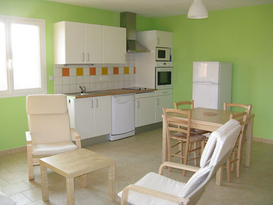 cuisine du Gite des Tournesols, aux Gites des Camparros à Nailloux