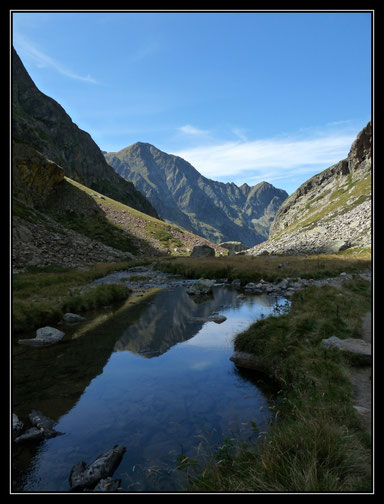 Reflets en vallée de la Neste de Clarabide