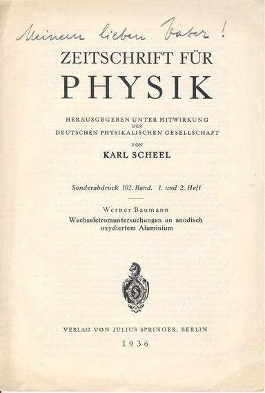 1936 Promotion Werner