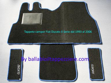 Tappeto Camper furgone Fiat Ducato II Serie By ballabioiltappezziere.com