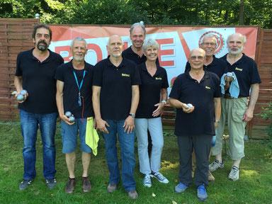 v.l. Manfred Schulz, Michael Quack, Hemut Held, Uwe Beutin, Marie Heine, Klaus Hübner, Walter Schneider, Bernd Rösemeier