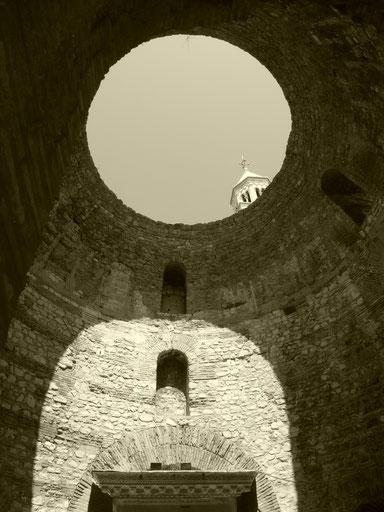 2014.08.12. Ein Bild aus dem Deokletianpalastes in Split, Kroatien.