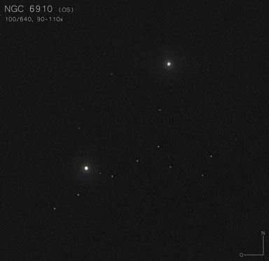 NGC 6910 Zeichnung