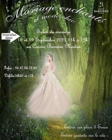 Salon du Mariage de Menton - 18 et 19 Septembre 2021