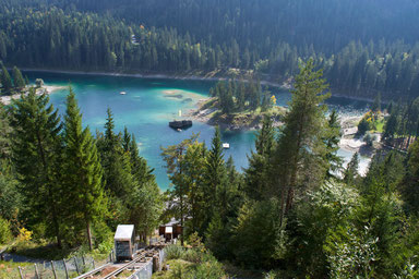 The most beautiful lakes in Switzerland - Caumasee