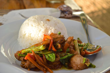 Quiet Place Away From El Nido - Rice with Vegatables Meal