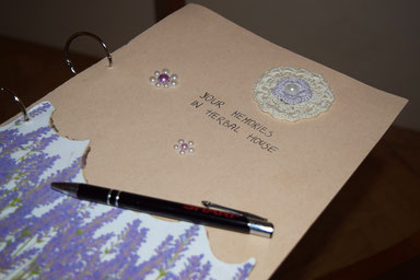 Herbal House Plave, Slovenia - A hand-made guest book