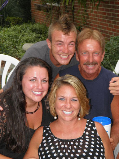 My Dad (right), My Stepmother(bottom), My Sister(left), and My Half brother(top)