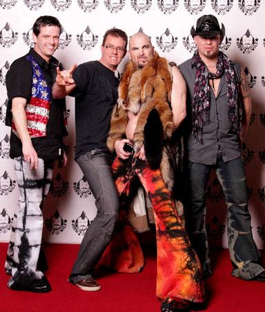 von links nach rechts, Stevie, Franklin, MIkel und  Birdy