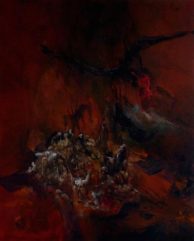 l'enfer V Acrylique sur toile dim 100cmx81cm