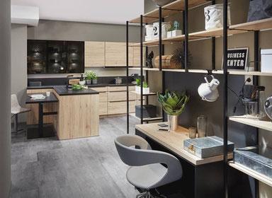 cuisine intérieur design toulouse living bois et noire type industriel moderne tendance contemporaine chic