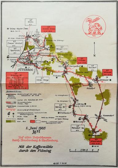 Karte Kleinbahn(Quelle: Museum Jüterbog)