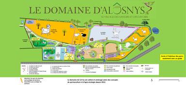 Formation permaculture et jardin bio pédagogique à Curgy - plan de l'écocentre