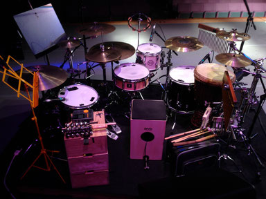 2014.9.27 臼澤みさきコンサート Drums & Percussion set