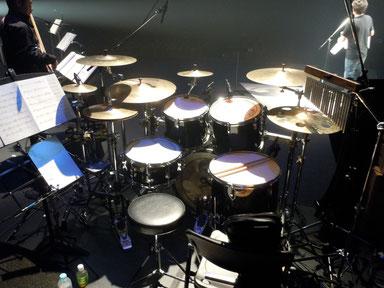 2012.11.17 あんべ光俊コンサート「力は無限大」Drum set