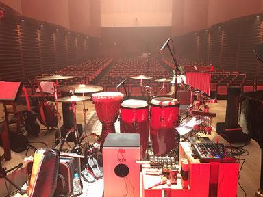 2016.12.15 幹-miki-コンサート Percussion set