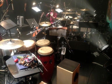 2013.5.25-26 幹mikiコンサート Drum set & Percussion set