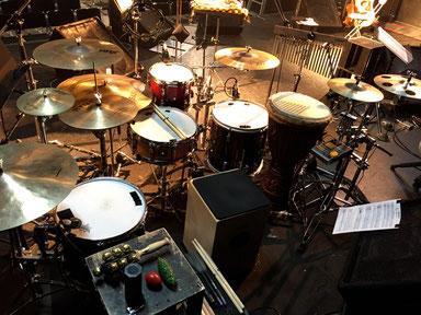 2015.1.23 臼澤みさきコンサート Drums & Percussion set