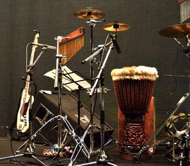 2012.7.20 幹mikiコンサート「青の軌跡」Drum set & Percussion set