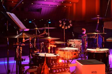 2014.11.30 臼澤みさきコンサート Drums & Percussion set