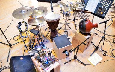 2015.3.8 沖仁&臼澤みさきコンサート Percussion set