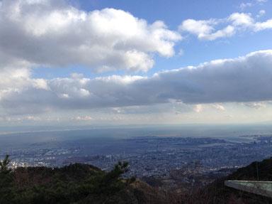 六甲山より