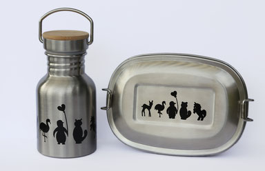 Flasche und Lunchbox aus Edelstahl