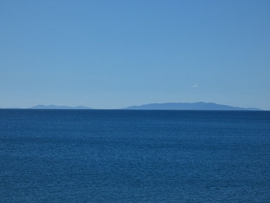 今日は甑島がキレイに見えてたね。