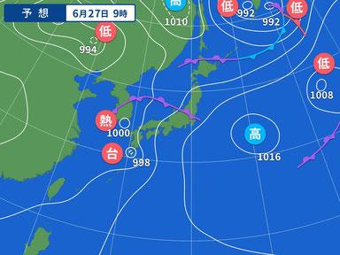 明日台風になるそうです。