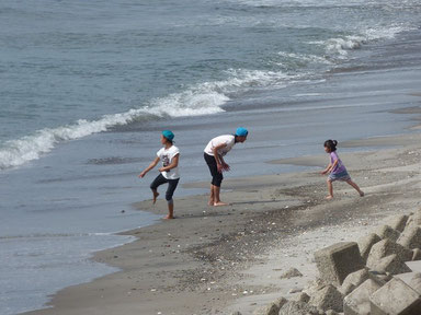海で遊ぶのにいい季節になりました~