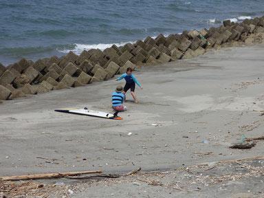 何度も陸トレをしっかり練習して、いざ海へ!